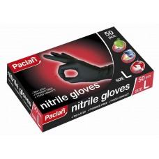 Перчатки нитриловые черные Paclan