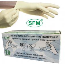 Хирургические нестерильные опудренные перчатки SFM