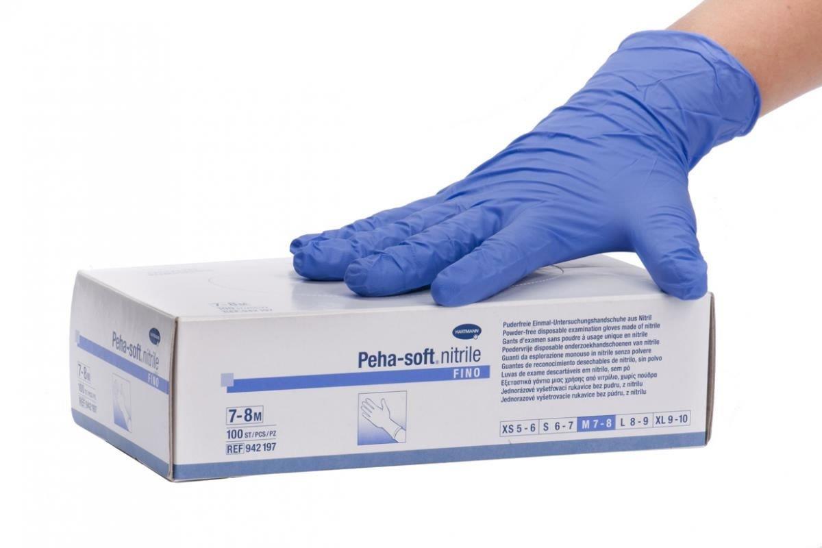 Фото упаковки смотровых перчаток