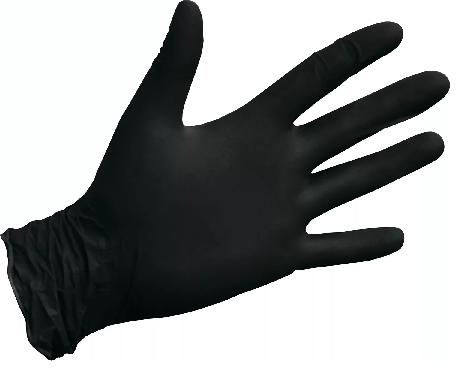 Фото перчатки нитриловые черные Basic medical Black pf