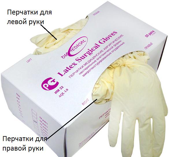Фото нестерильных хирургических перчаток Diamedical