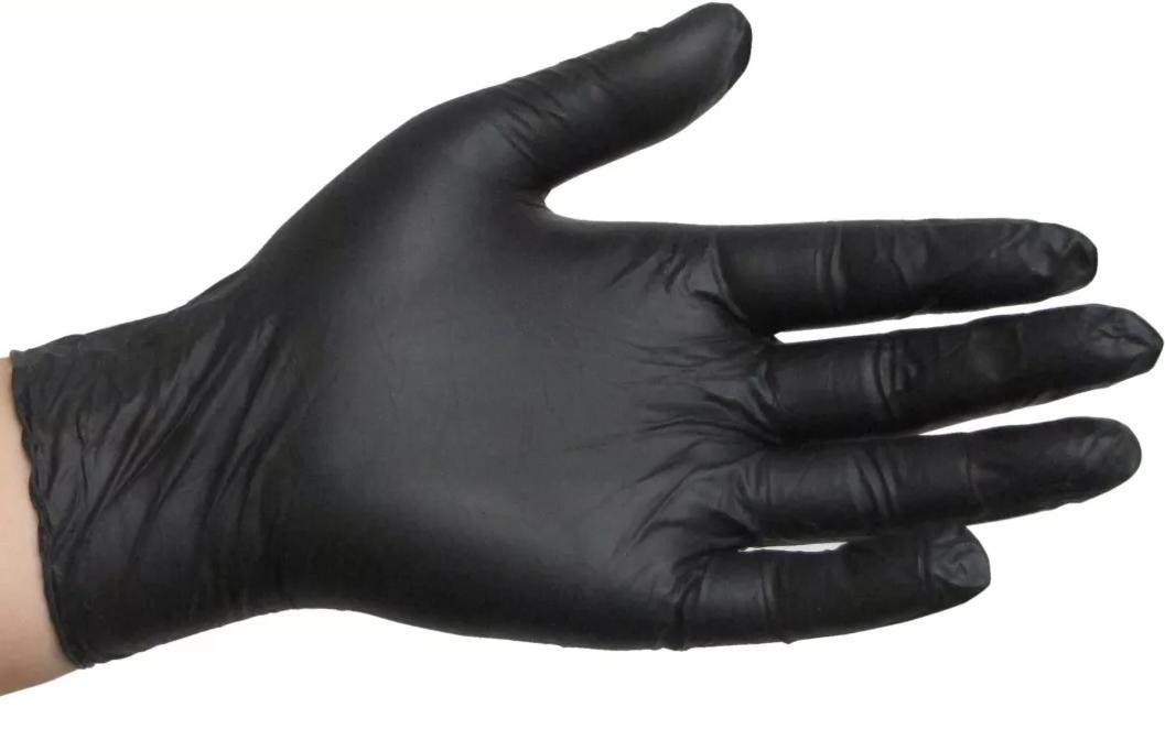 Фото черные виниловые перчатки