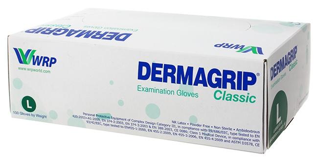 Фото упаковки Dermagrip classic стоматологические перчатки