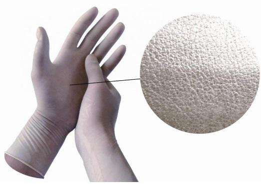 Текстура нитриловых перчаток