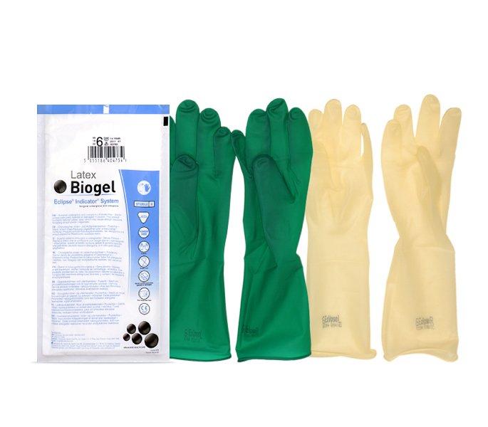 Фото двойных перчаток с индикацией прокола