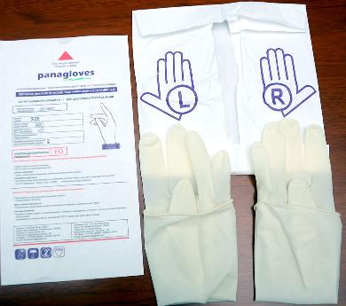 Фото внутренний конверт хирургической перчатки