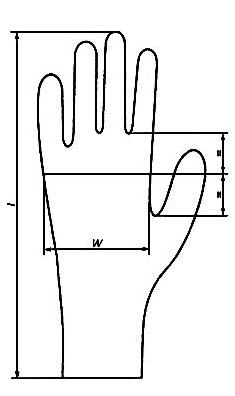 Рисунок латексной перчатки по ГОСТ 52239-2004