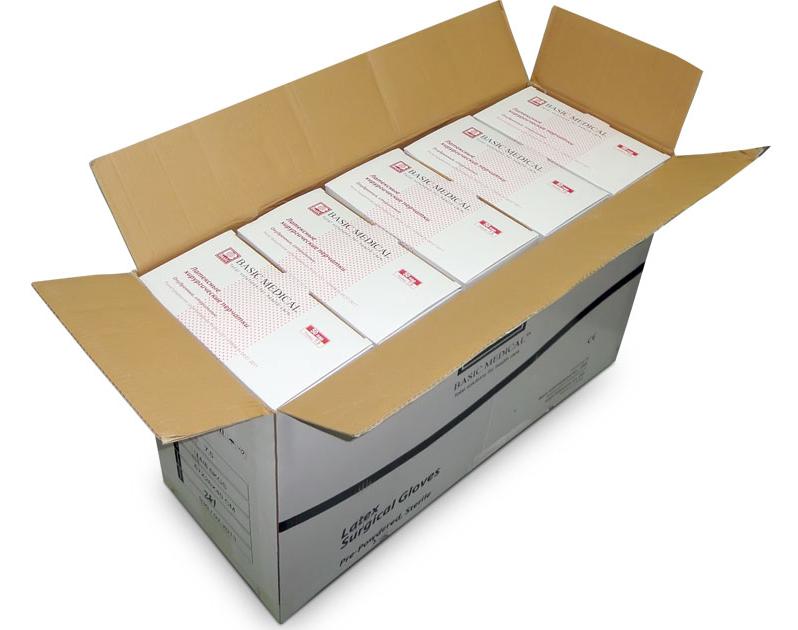 Упаковка стерильных перчаток