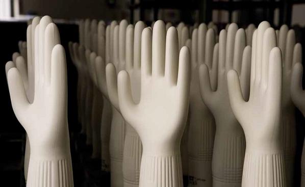 Фото фарфоровые формы перчаток. Манжета с ребрами жесткости